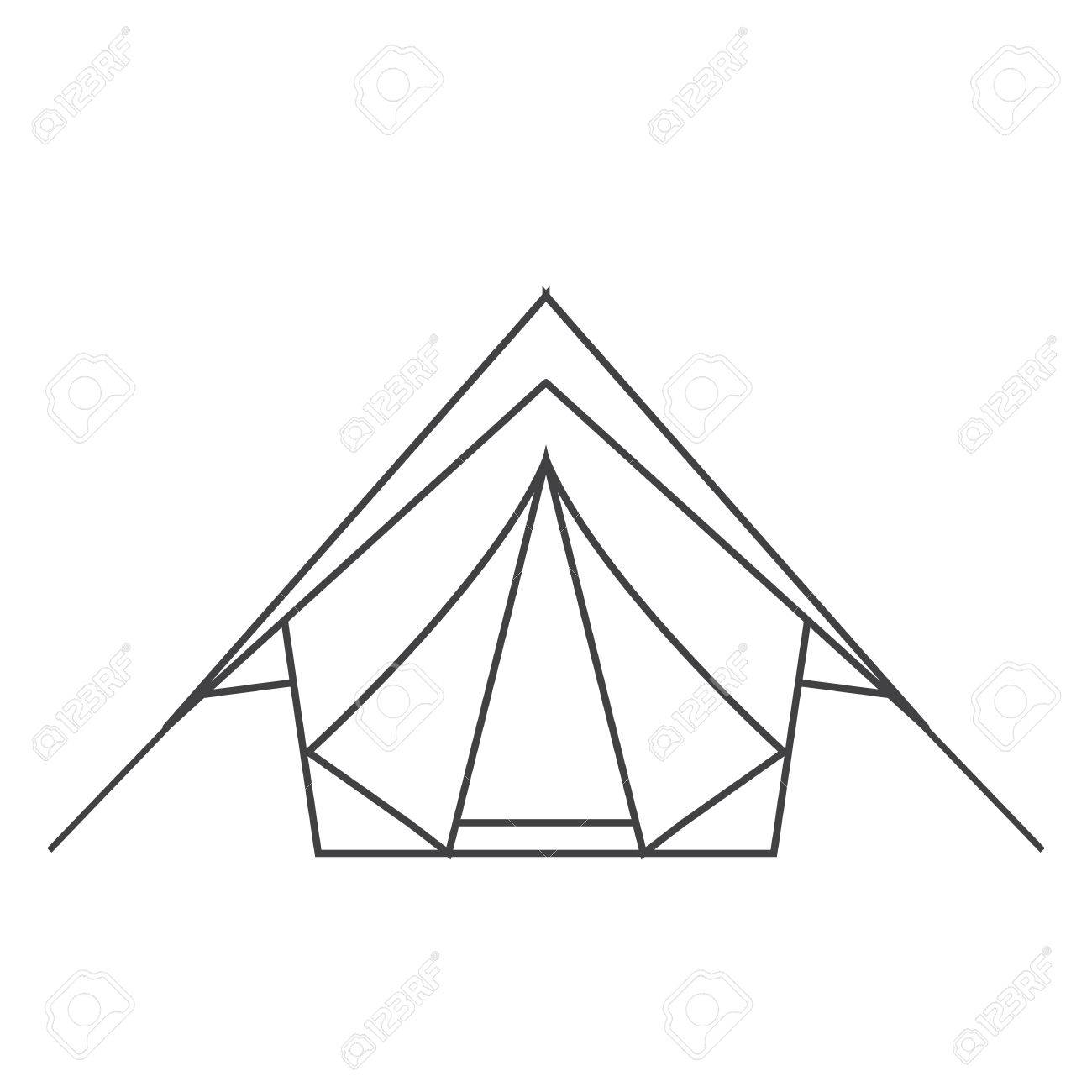 C&ing tent vector thin line vector icon. Adventure outline pictogram. Stock Vector - 56191480  sc 1 st  123RF.com & Camping Tent Vector Thin Line Vector Icon. Adventure Outline ...