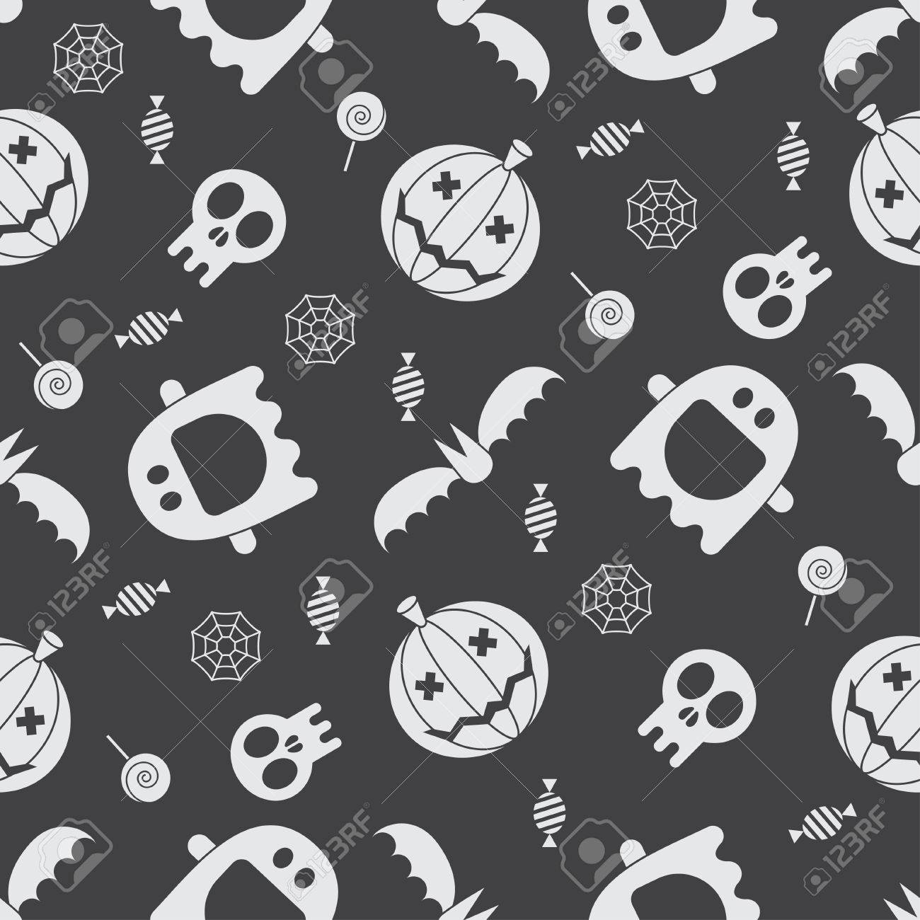 Halloween pattern background mystic seamless pattern with halloween pattern background mystic seamless pattern with pumpkins skull ghost bat biocorpaavc Choice Image