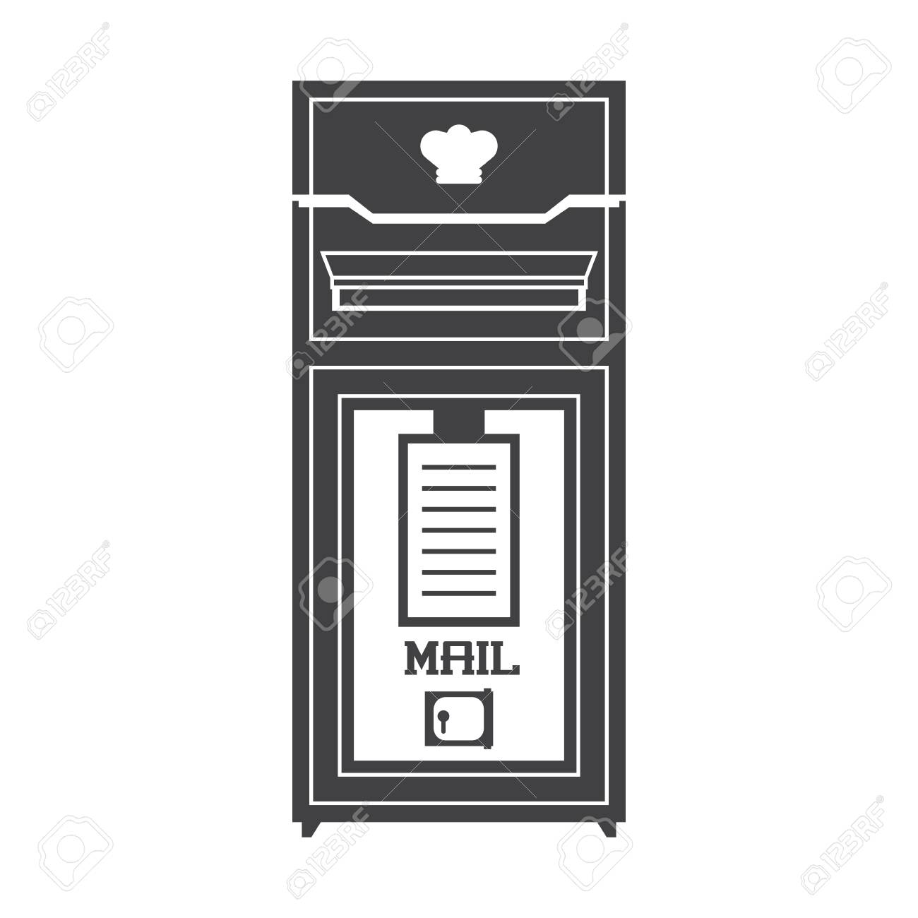 Retro Royal Letter Post Outline Illustration Vintage Mailbox - Mailbox label template