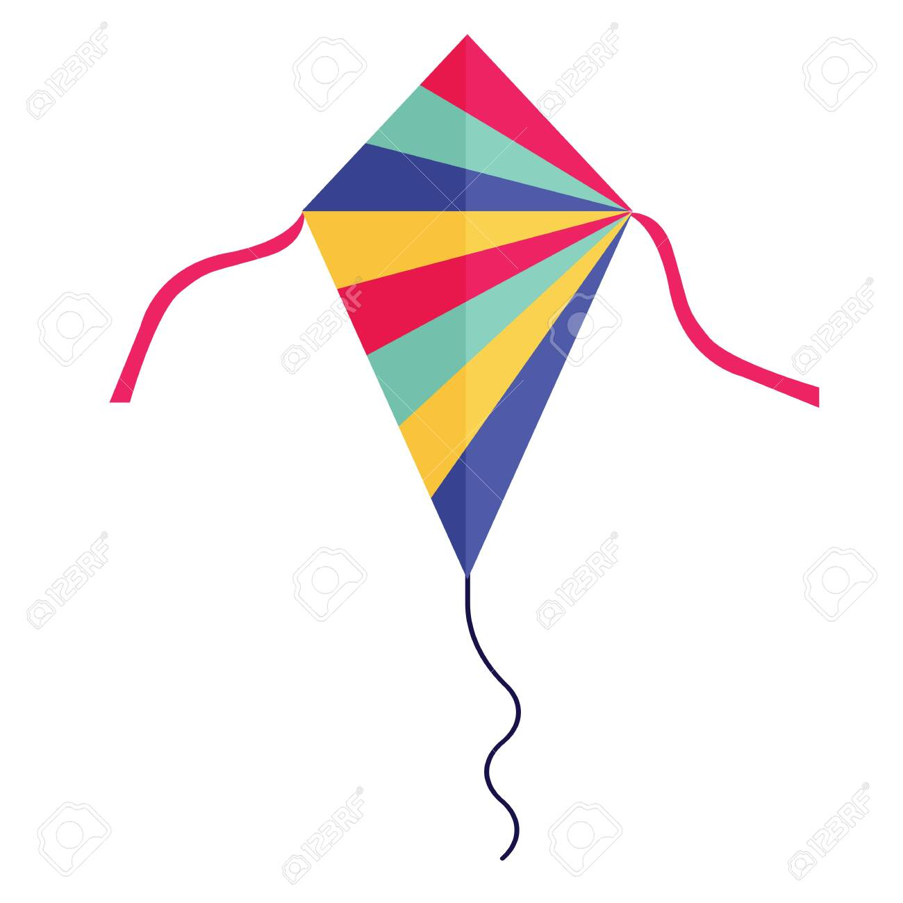 Flying handle kite for outdoor fun games and beach activities