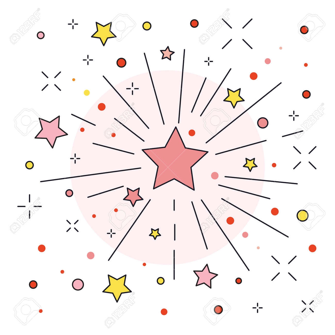 Festive Firework or Firecracker Icon in line Art - 157982598