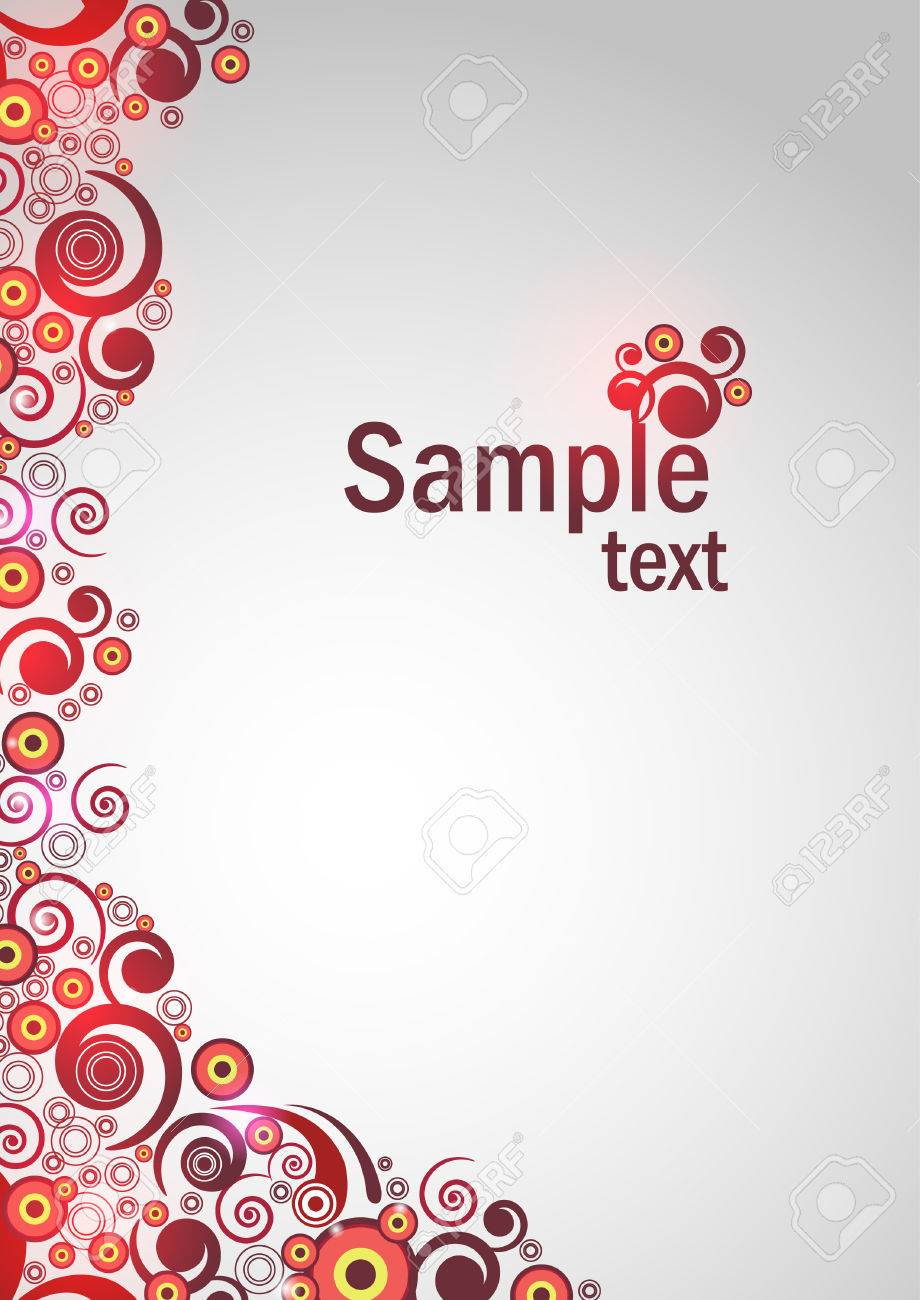 Floral background with red lights Stock Vector - 8463292