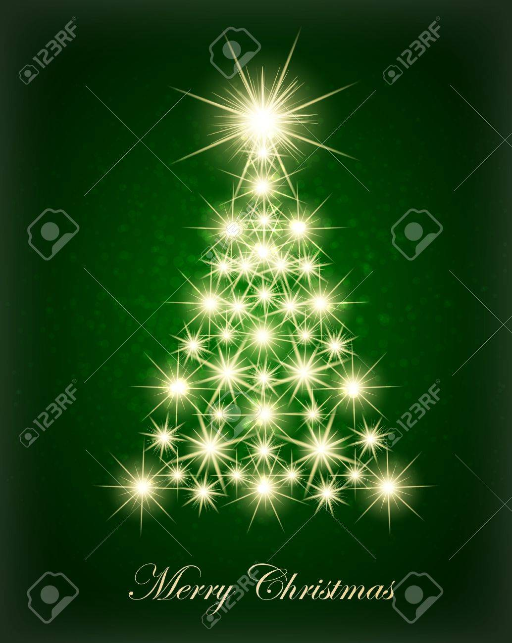 christmas tree made with glowing lights stock vector 10788045 - Christmas Tree Made Of Lights