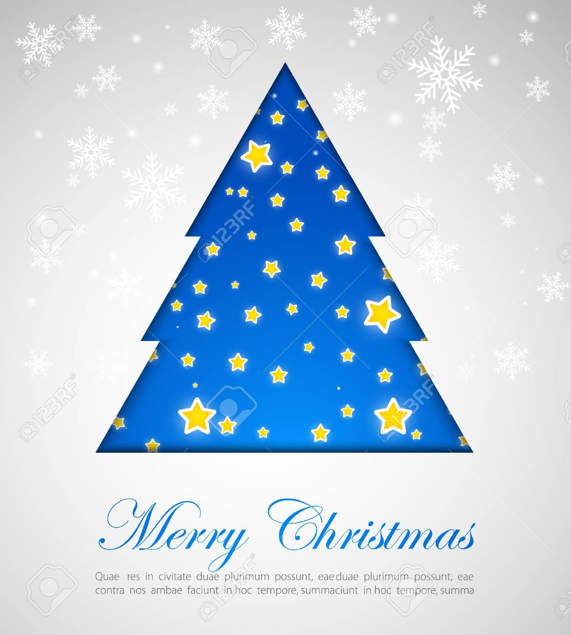 Card with Christmas tree Stock Vector - 10798115