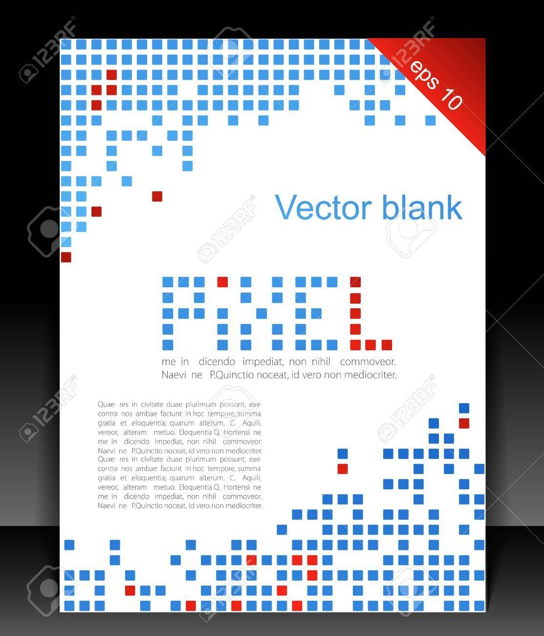 Abstract Blank Pixel Art