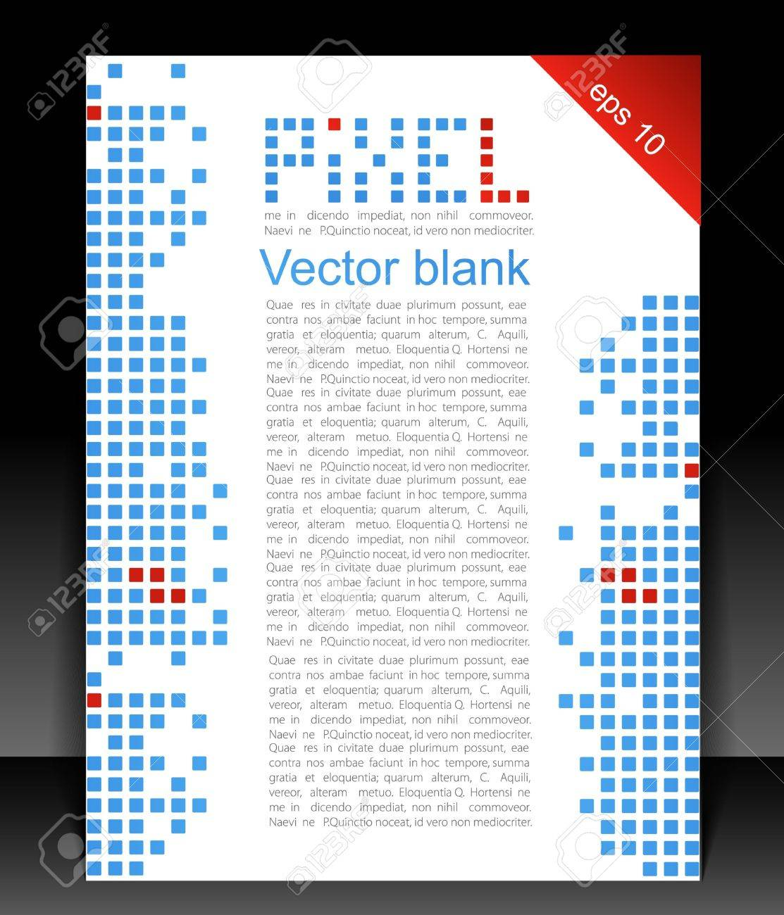 Abstract blank. Pixel art. Stock Vector - 11057162