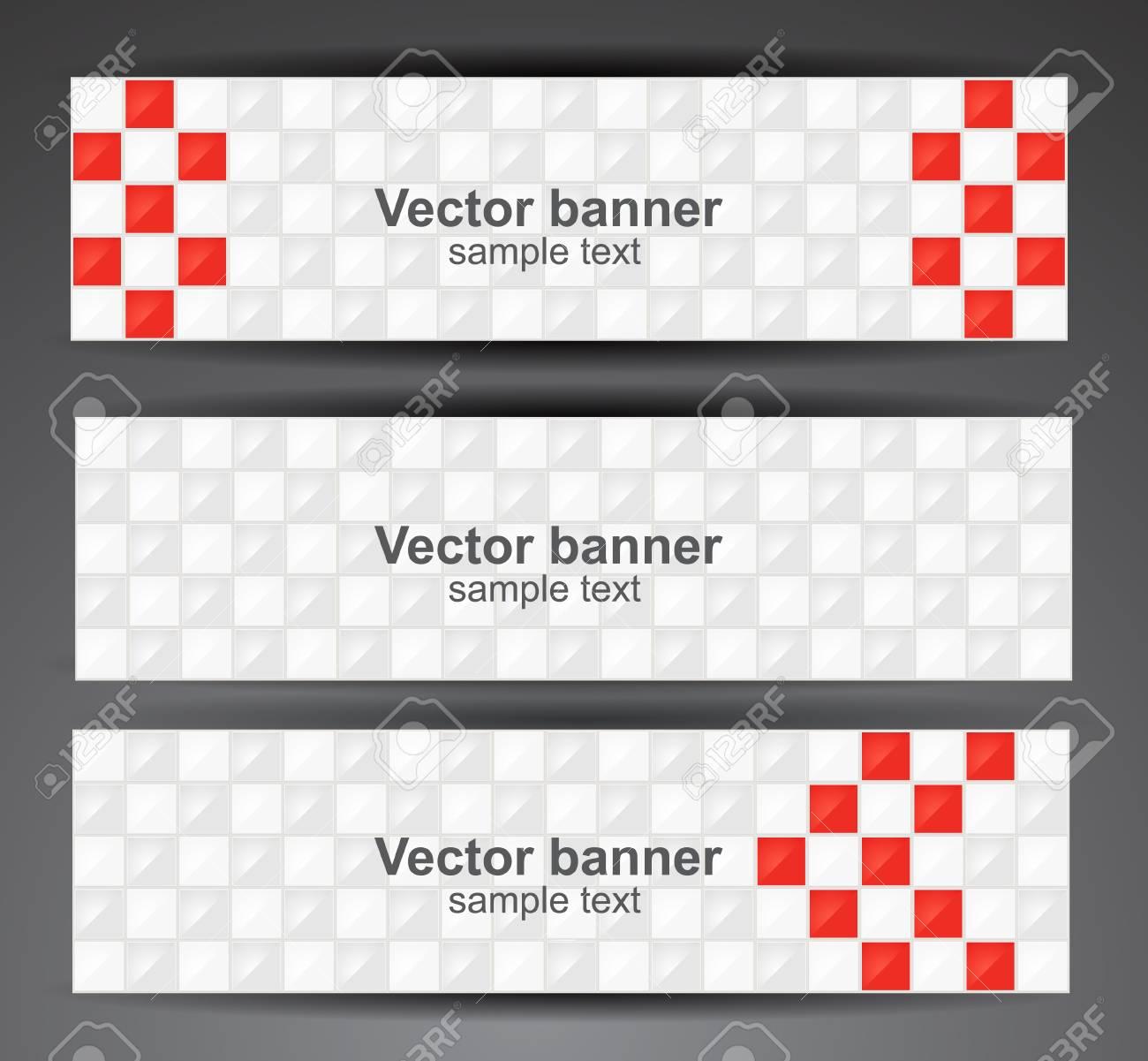 Web pixel banners  Vector Stock Vector - 12470355