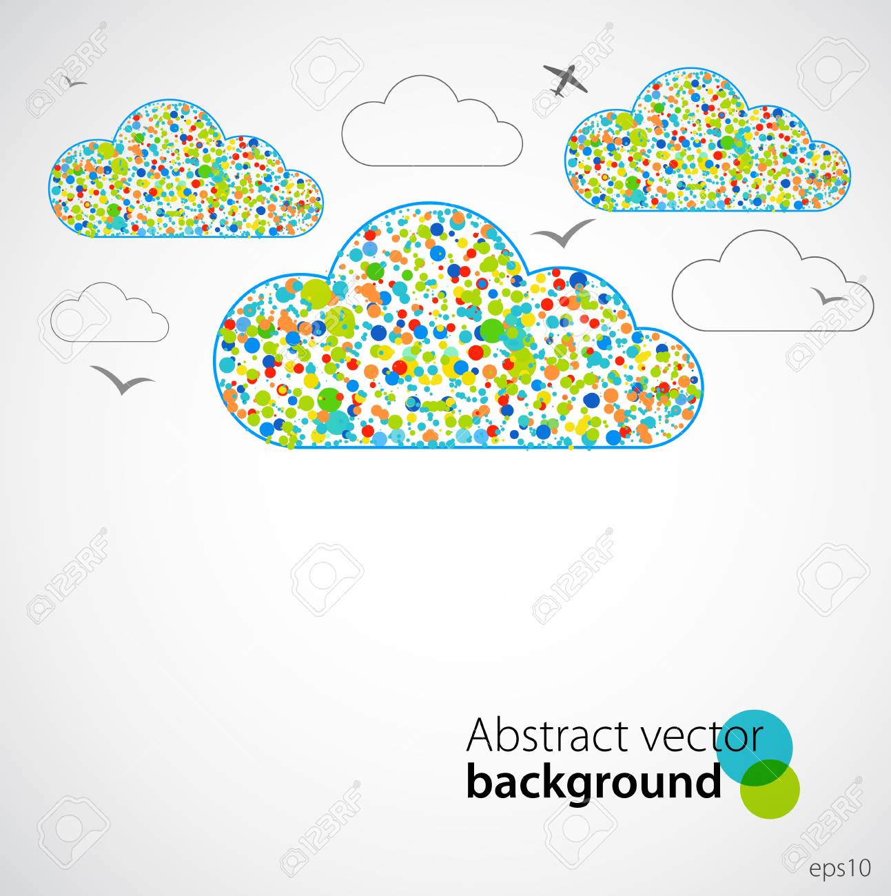 Frühling Lustig Himmel Vektor Lizenzfrei Nutzbare Vektorgrafiken