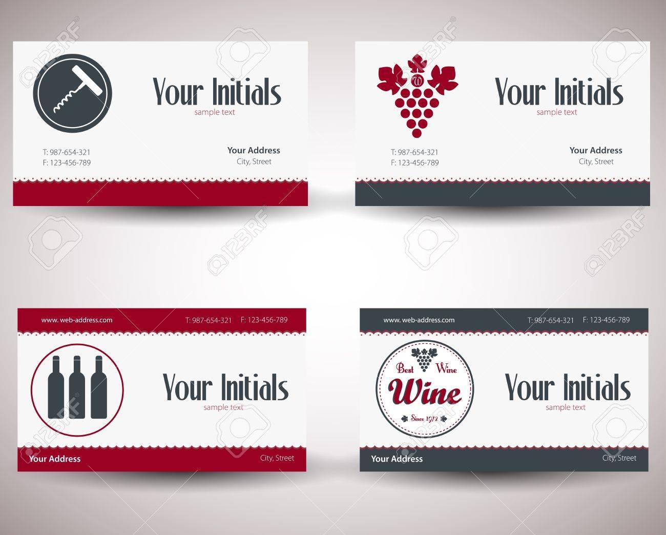 Retro Carte De Visite Millesime Pour Les Entreprises Du Vin Clip