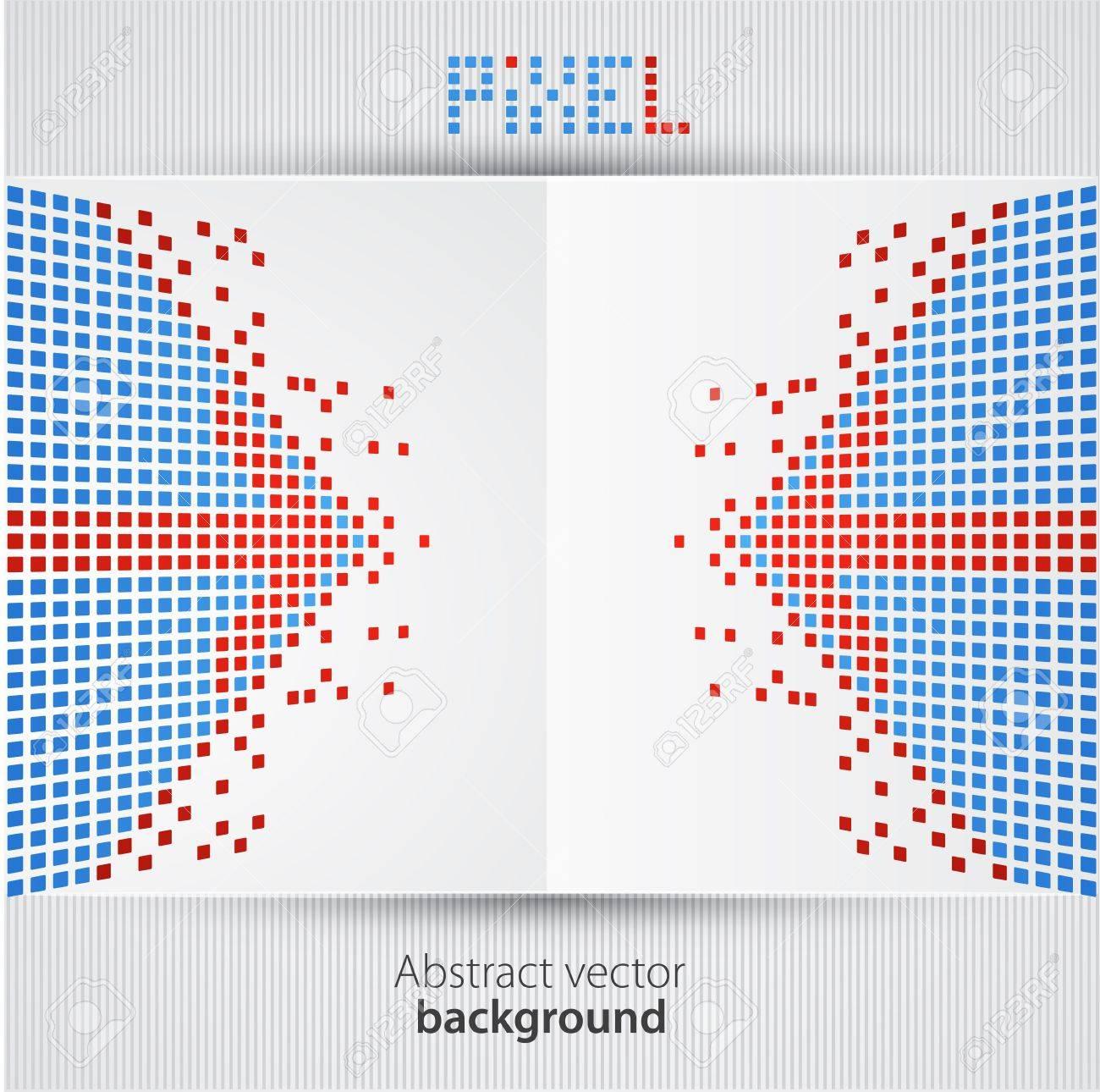 Pixel art  Vector background Stock Vector - 13722067