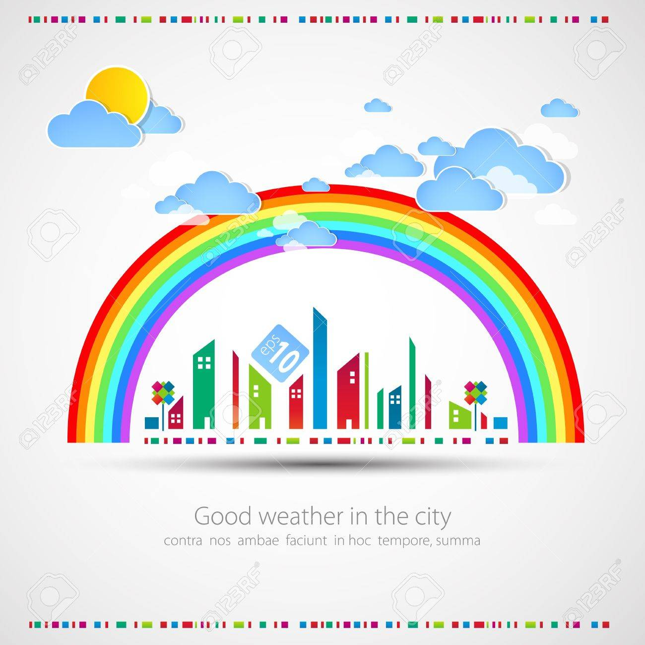 City theme background illustration Stock Vector - 13721775