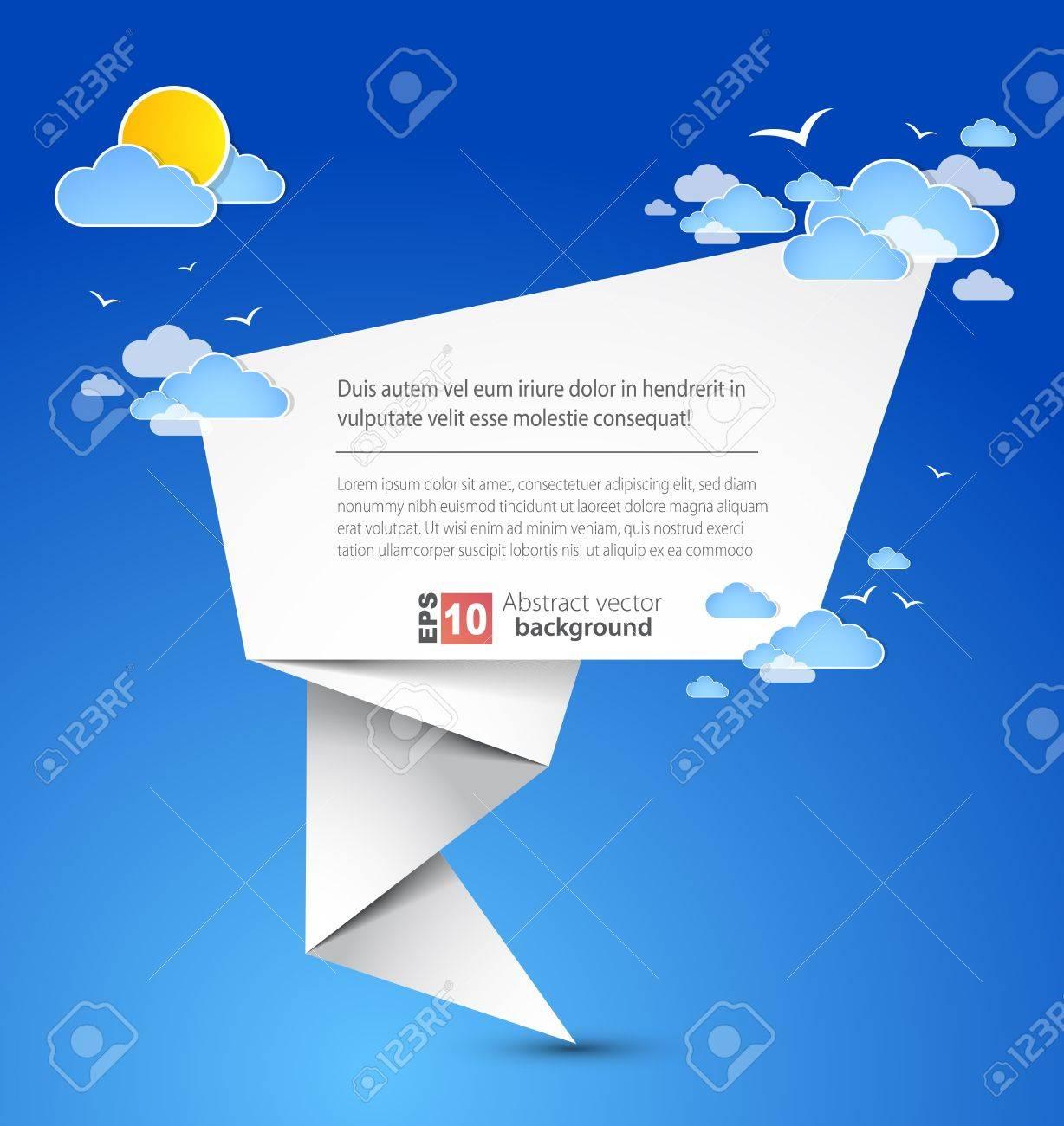 Abstract origami speech vector background Stock Vector - 14134155