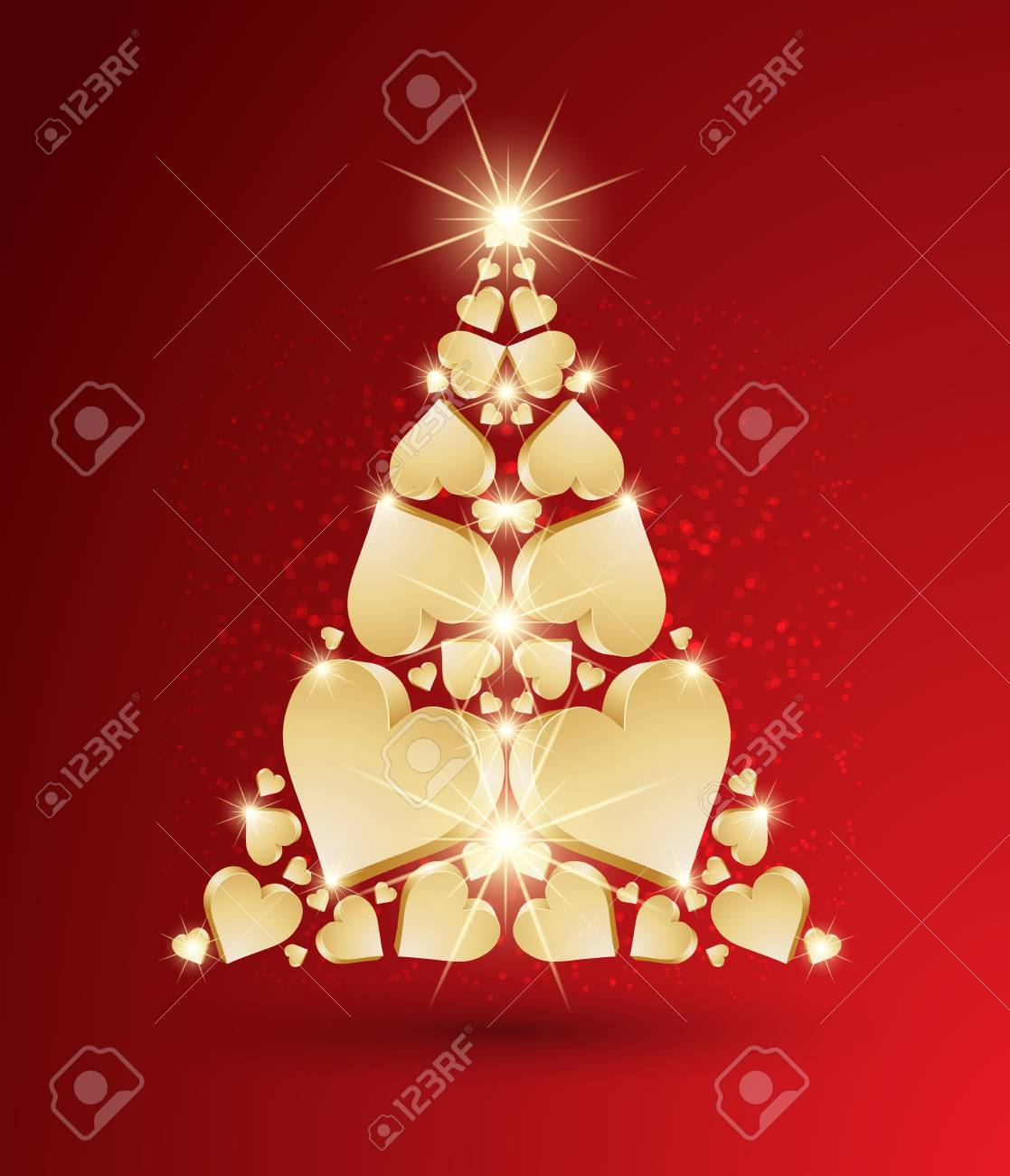 New Year tree made with hearts Stock Vector - 15251224