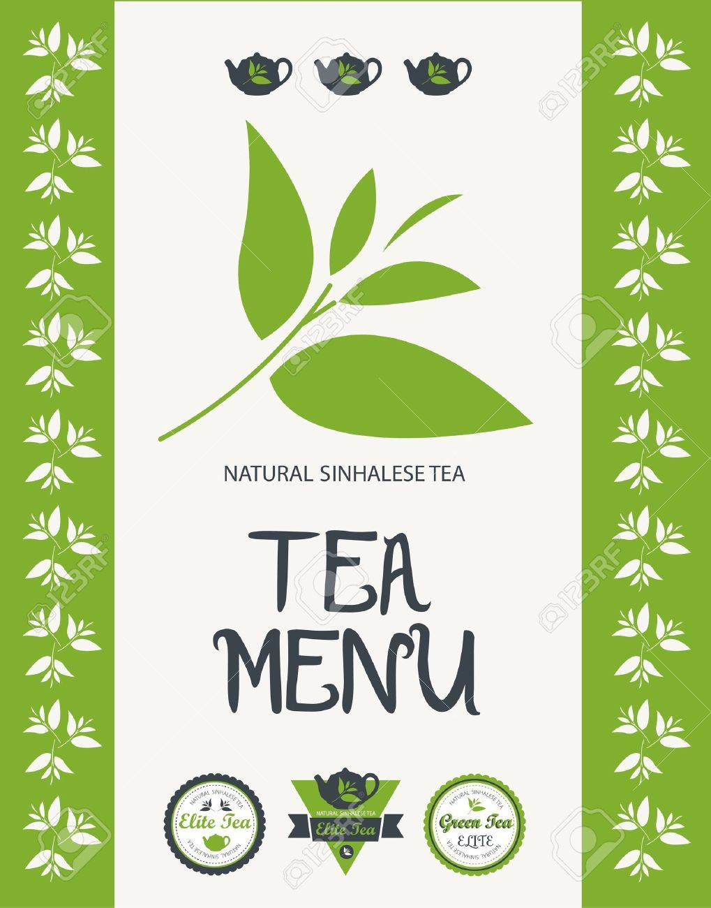 Tea menu  Vector Stock Vector - 15389426