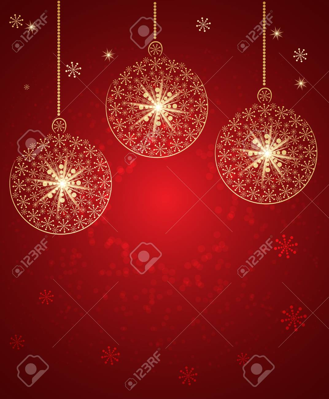 Christmas toys made with snow. Vector Background Stock Vector - 15939636