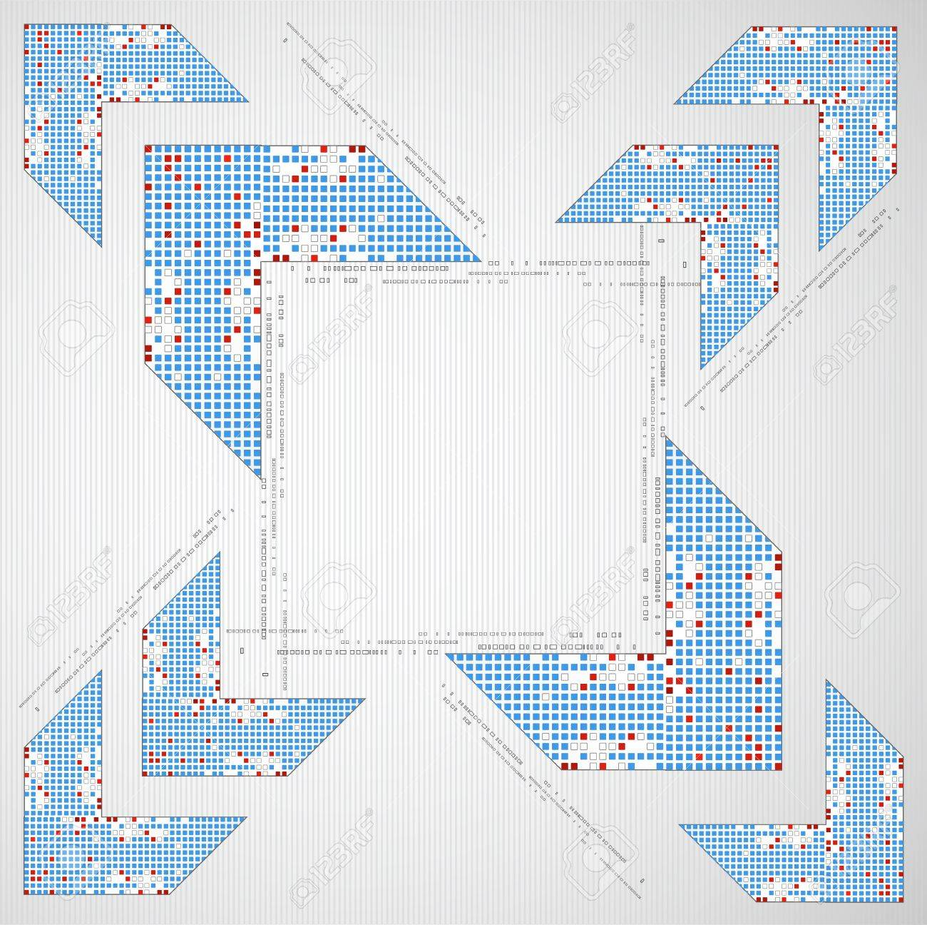 Abstract background with arrow. Pixel art. Vector Stock Vector - 17754701