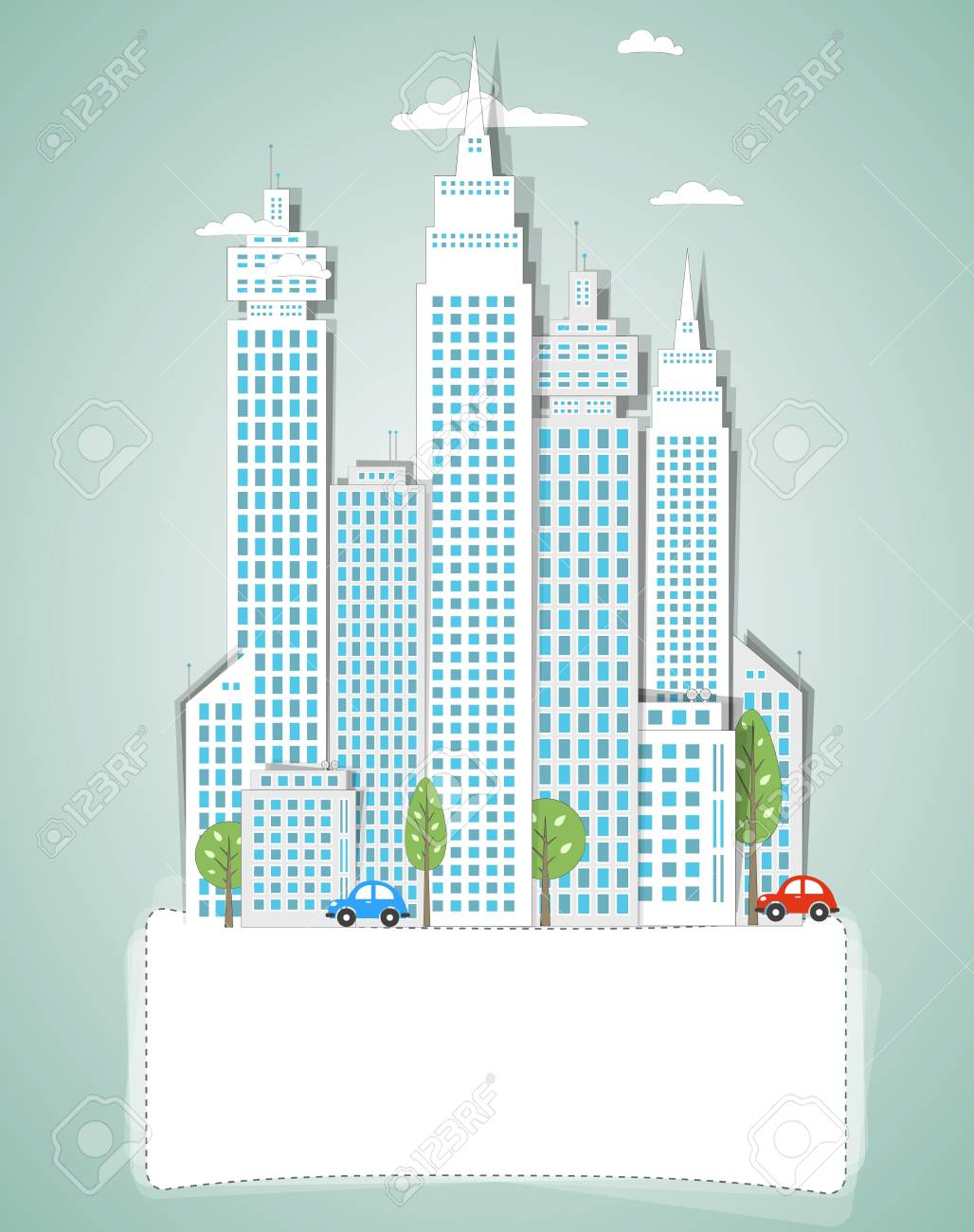 Modern city background Stock Vector - 18001418