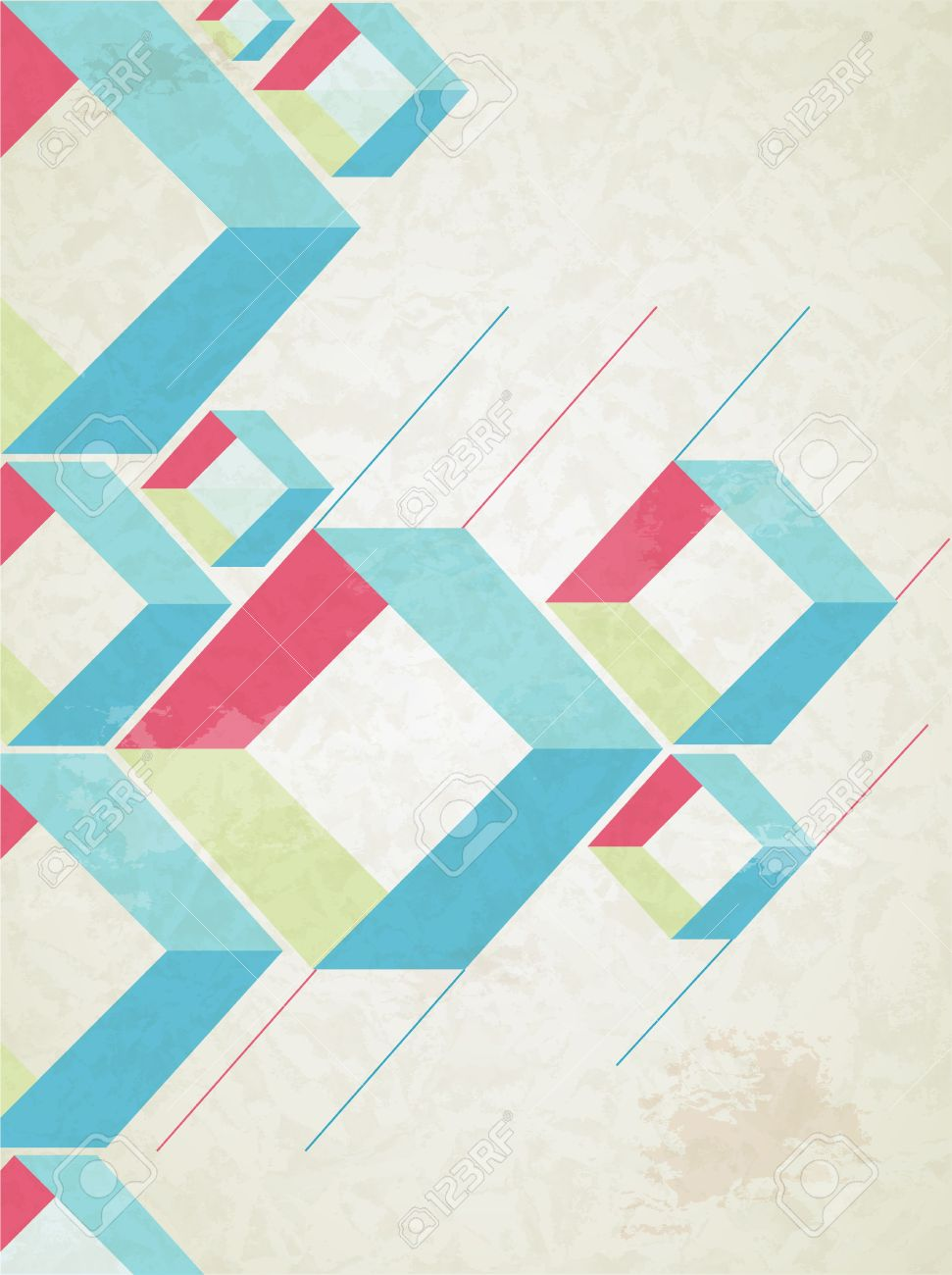 Abstract retro-style background  Vector Stock Vector - 18428889