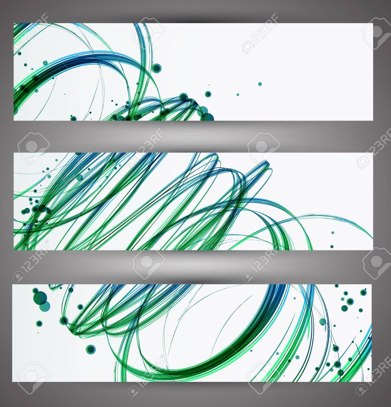 Set of bright banners  Vector Stock Vector - 18574351