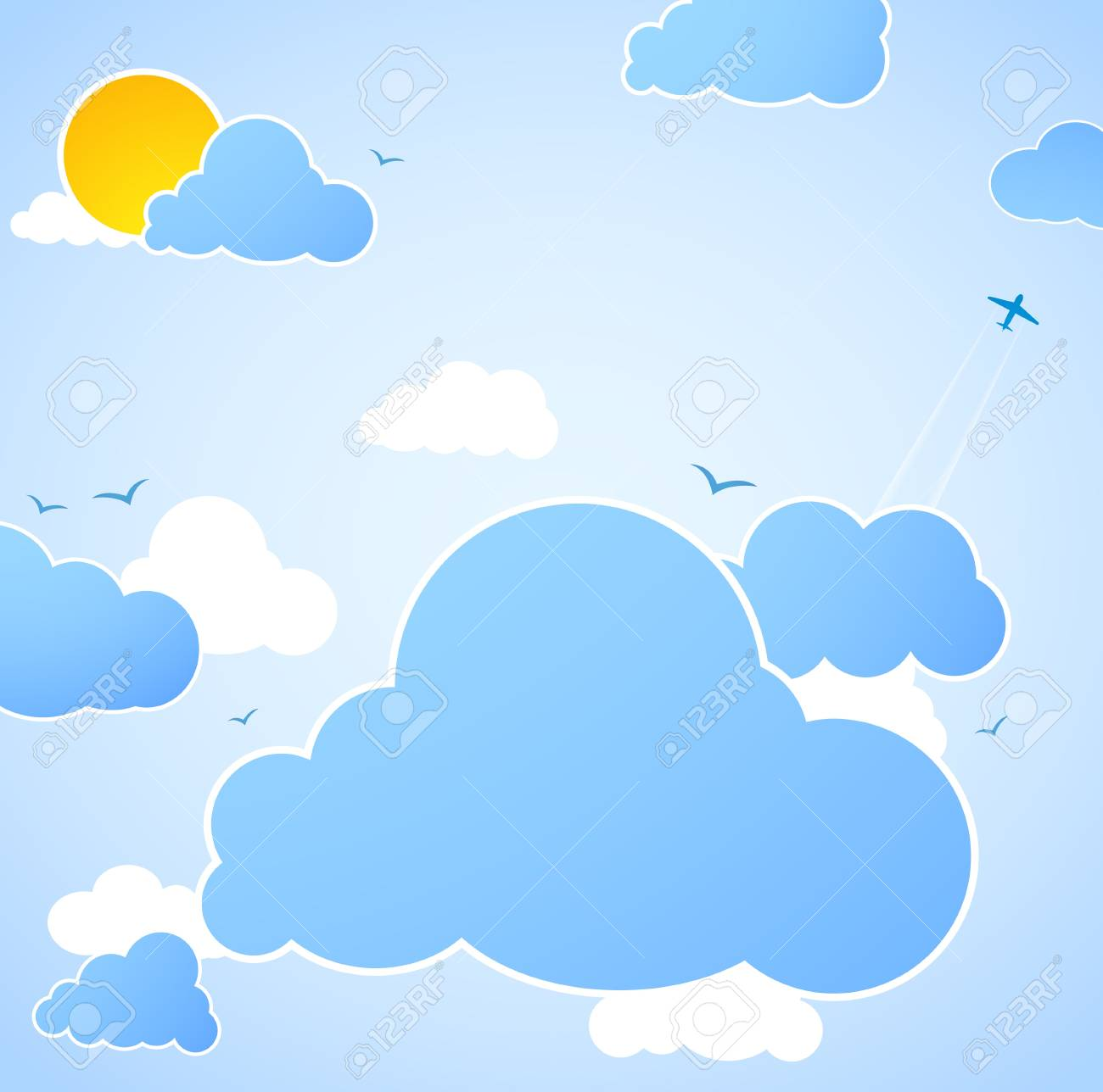 Good weather. Blue sky background. Stock Vector - 20833618