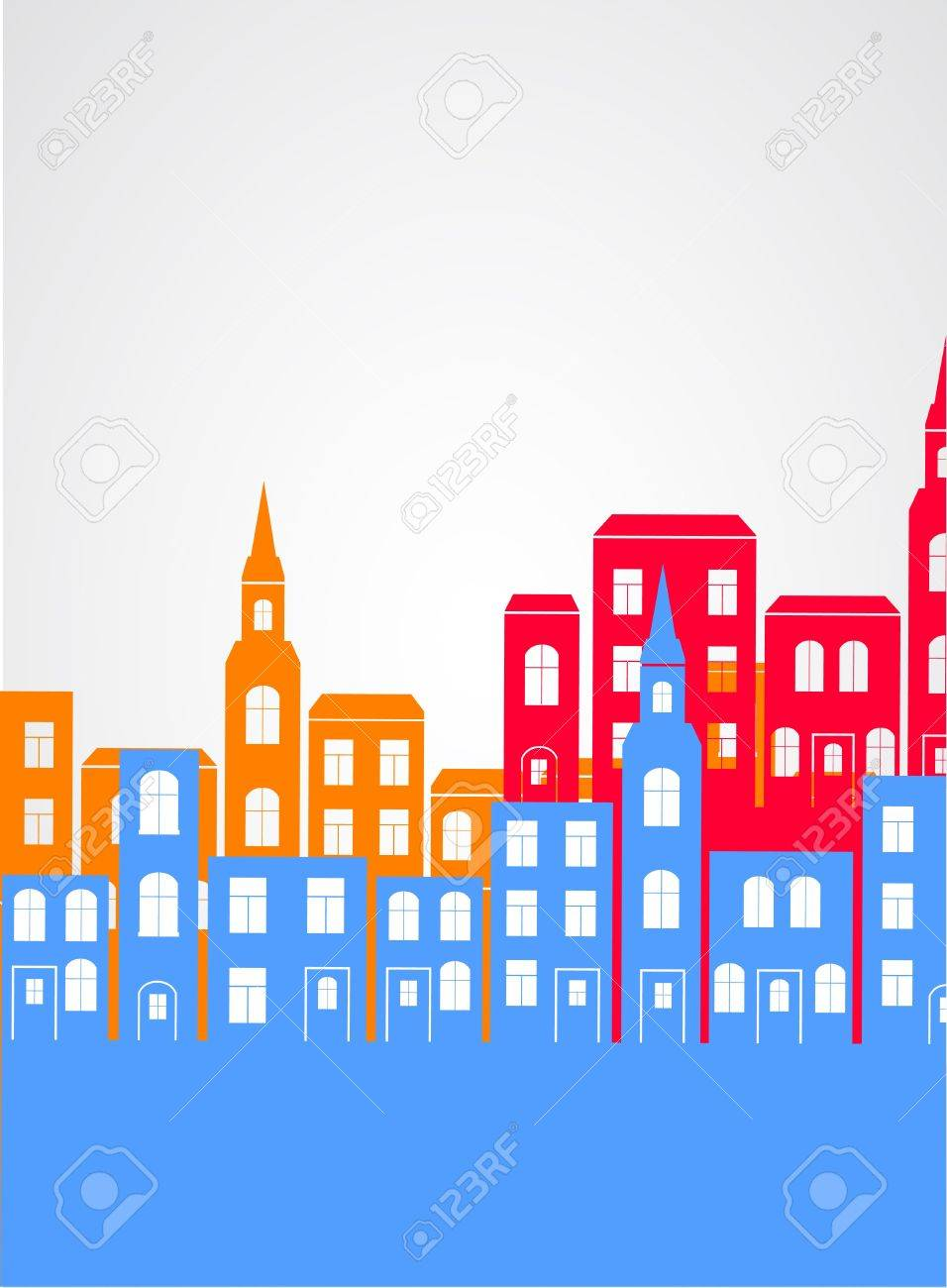 City silhouette background. Stock Vector - 21317374