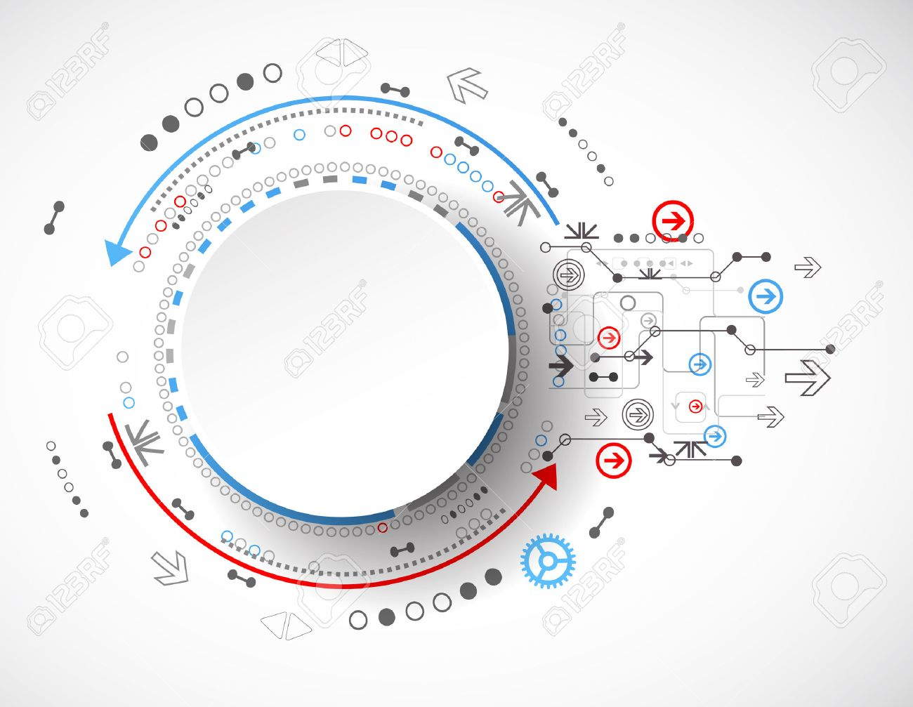 Abstract technology concept of business background. Vector Stock Vector - 41949217