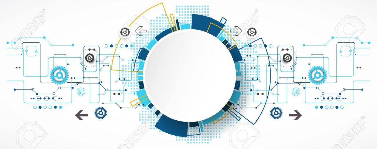 Abstract technological background with various technological elements. Structure pattern technology backdrop. Vector Stock Vector - 46601922