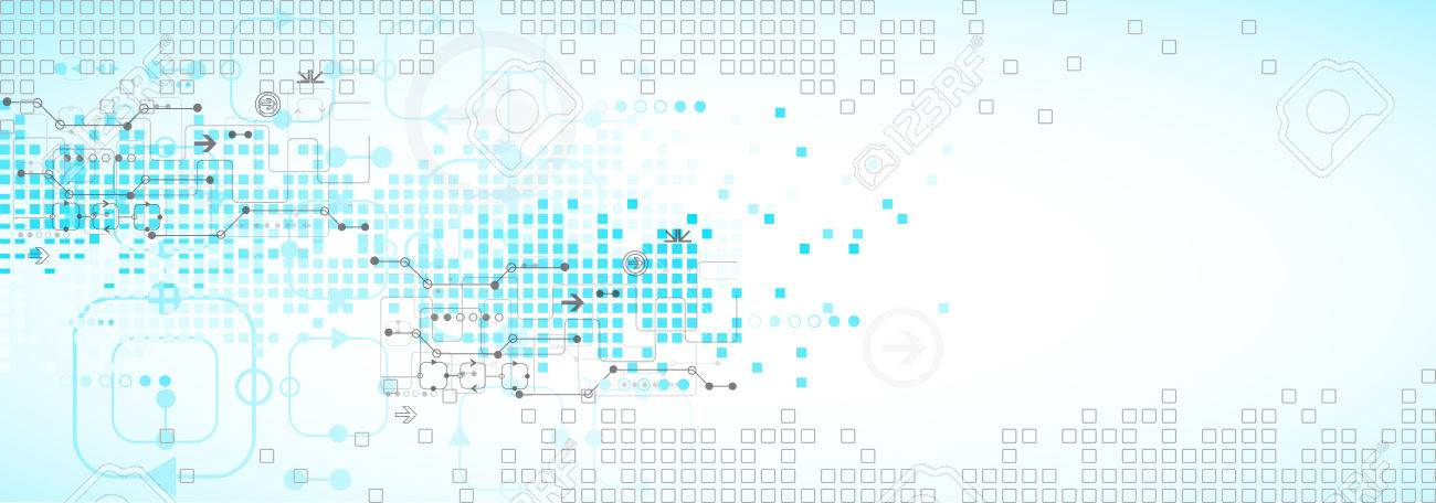 Abstract blue technology business background. Vector illustration - 50582223