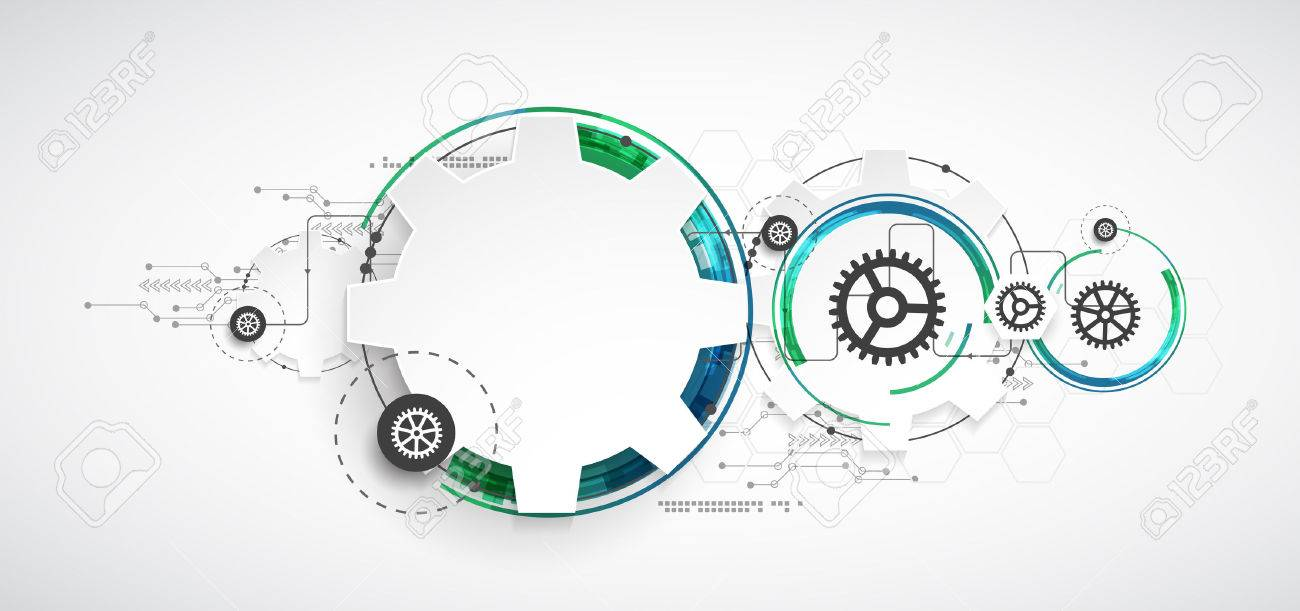 Abstract technology background. Cogwheels theme. Vector illustration - 51427608