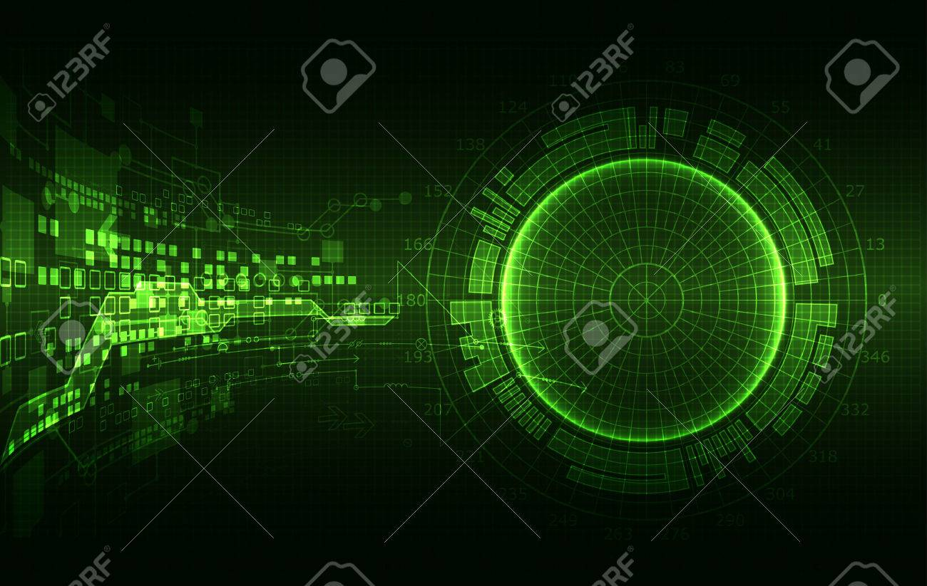Abstract green colored background with various technological elements. Structure pattern technology backdrop. Vector - 61844828
