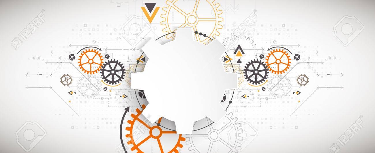 Vector illustration, Hi-tech digital technology and engineering theme - 70695525