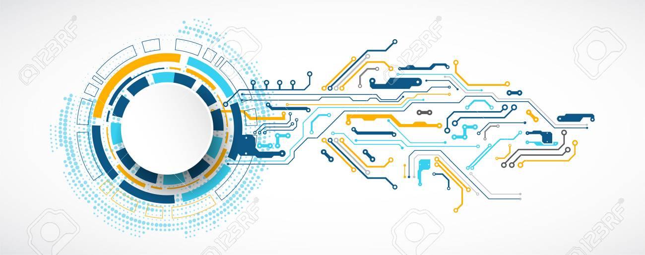 Vector illustration, Hi-tech digital technology and engineering theme - 88460163