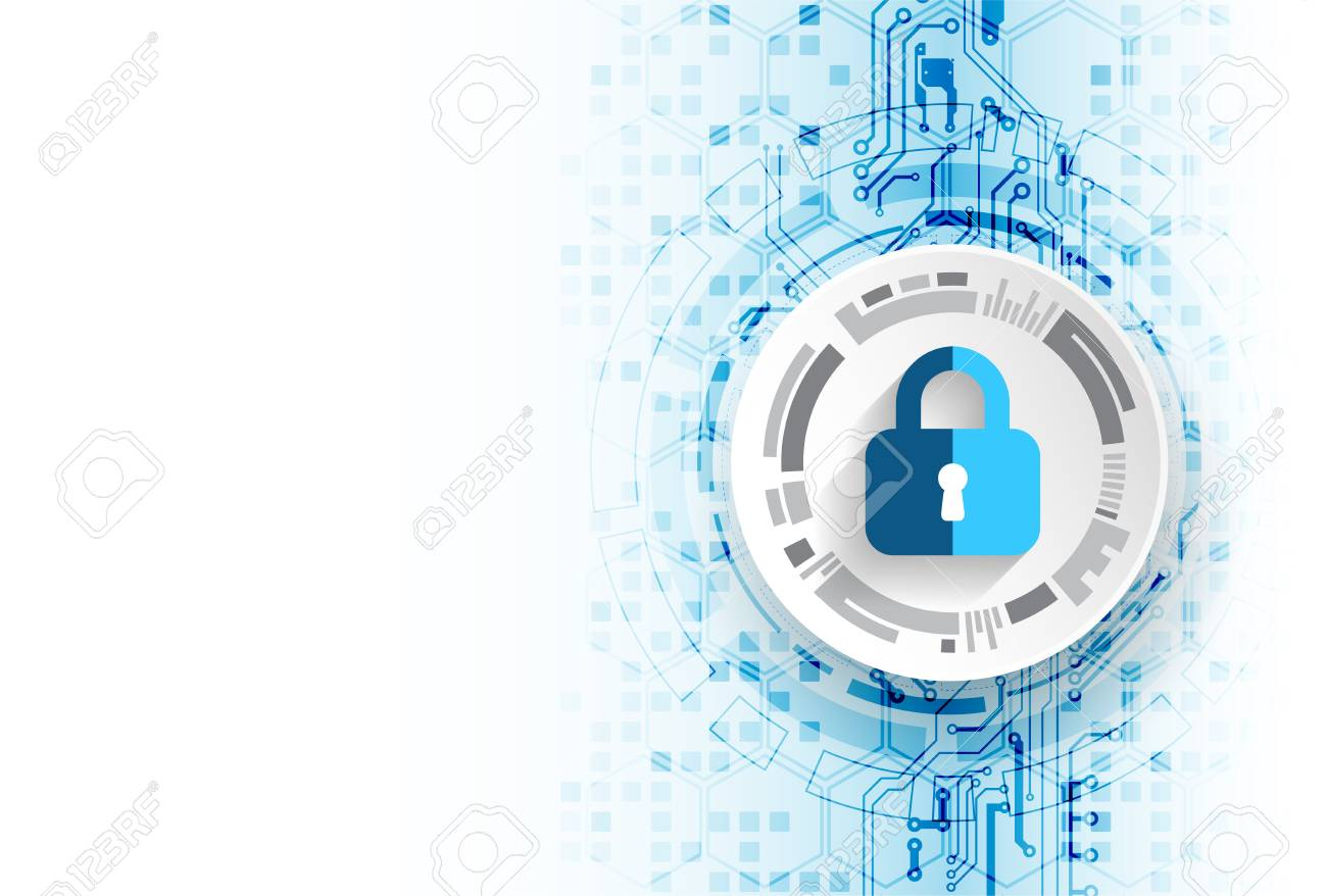 Protection concept. Protect mechanism, system privacy. Vector illustration - 92689790
