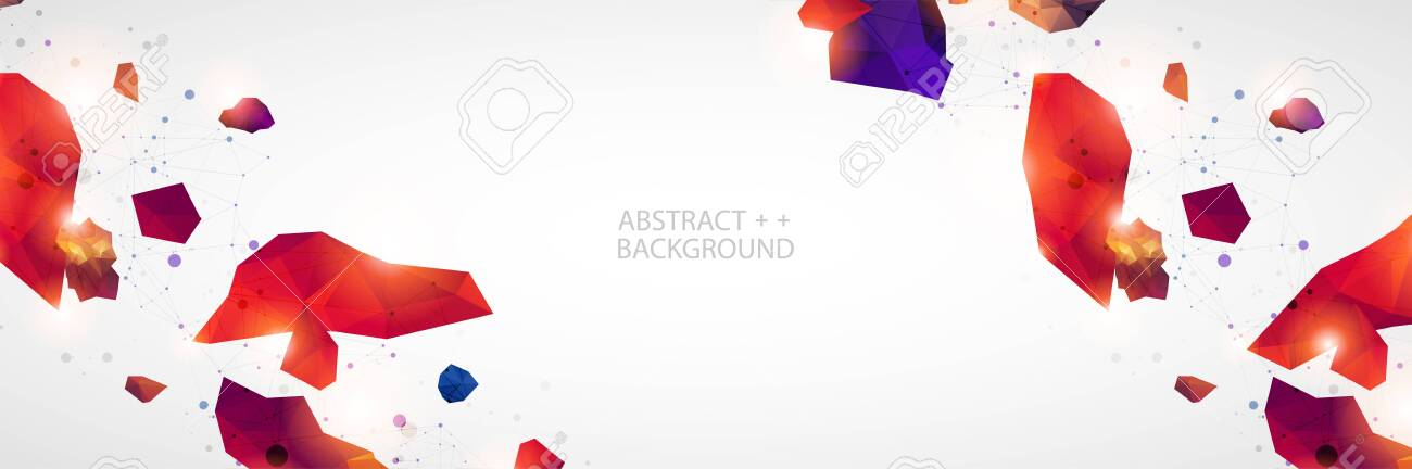 Triangle pattern shape for wallpaper. Illustration low poly, polygonal design. Vector - 134345448