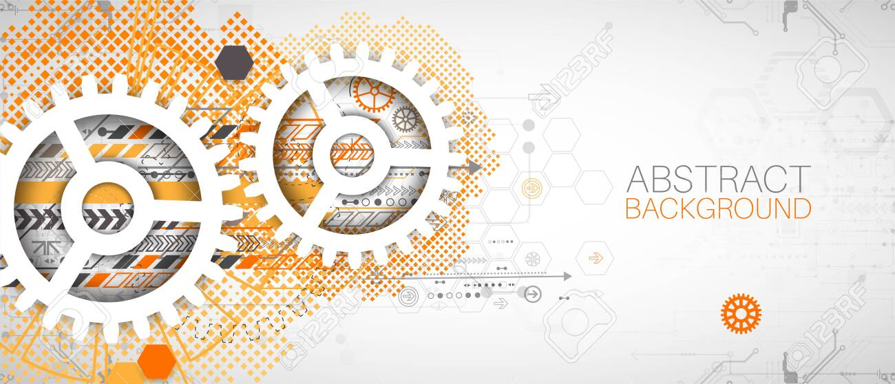 Modern futuristic, engineering, science, technology vector background. - 147801750