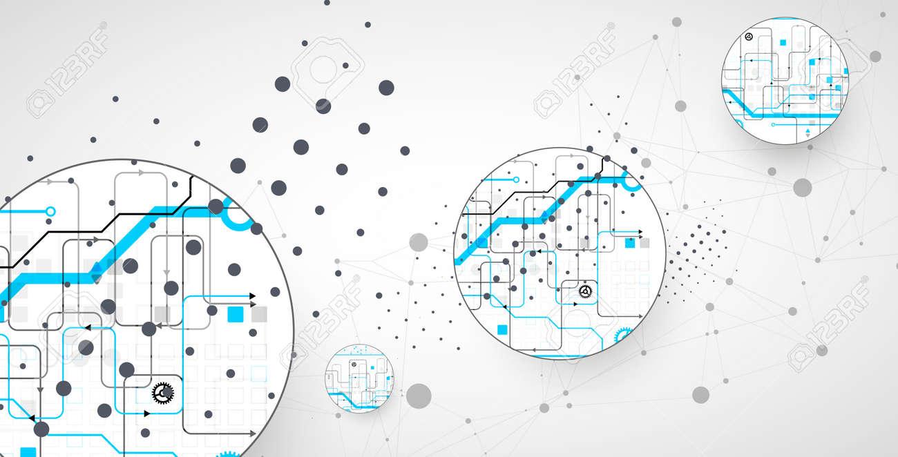 Abstract technology background. Communication concept, futuristic digital innovation art background. Vector illustration - 168574216