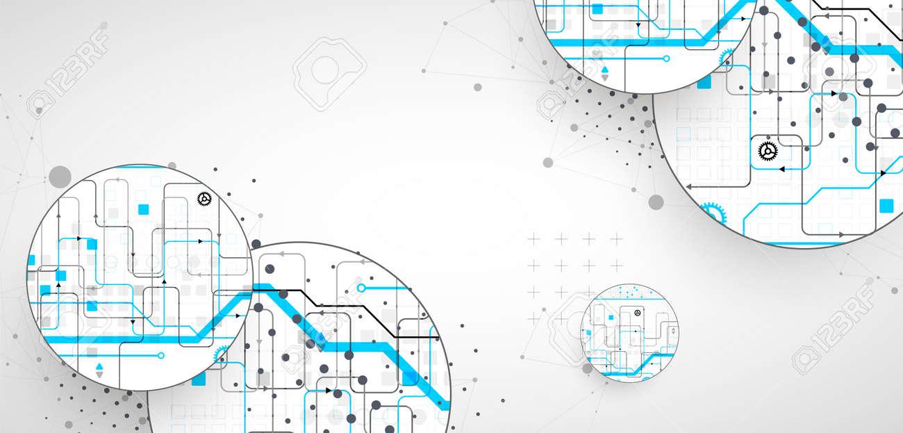 Abstract technology background. Communication concept, futuristic digital innovation art background. Vector illustration - 168574221