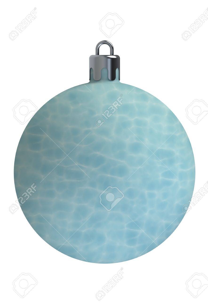 still water texture. Still Water Texture Christmas Ball Isolated On White Background Stock Photo - 50170633