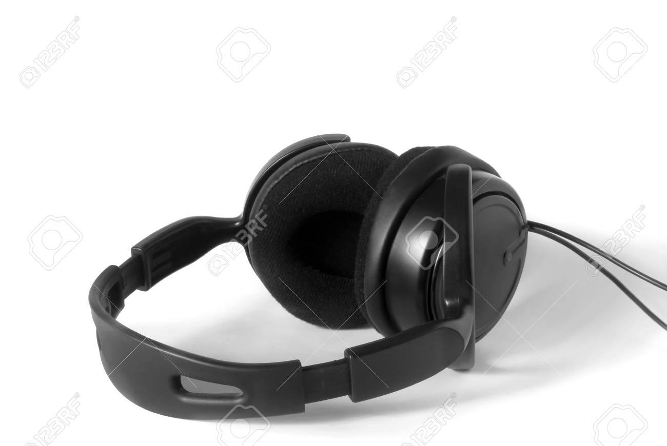 earphones on white background Stock Photo - 14620344
