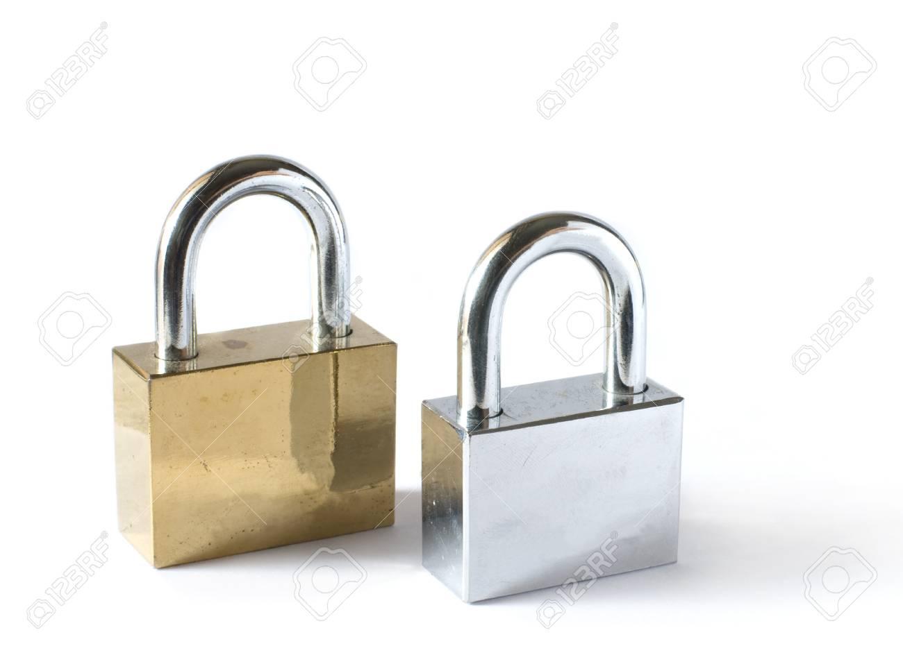 padlocks isolated on white background Stock Photo - 15305448