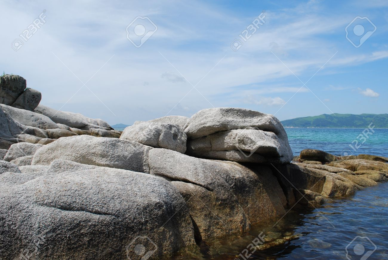 Sea A Landscape, Coastal Rocks Of The Unusual Round Form, The ...