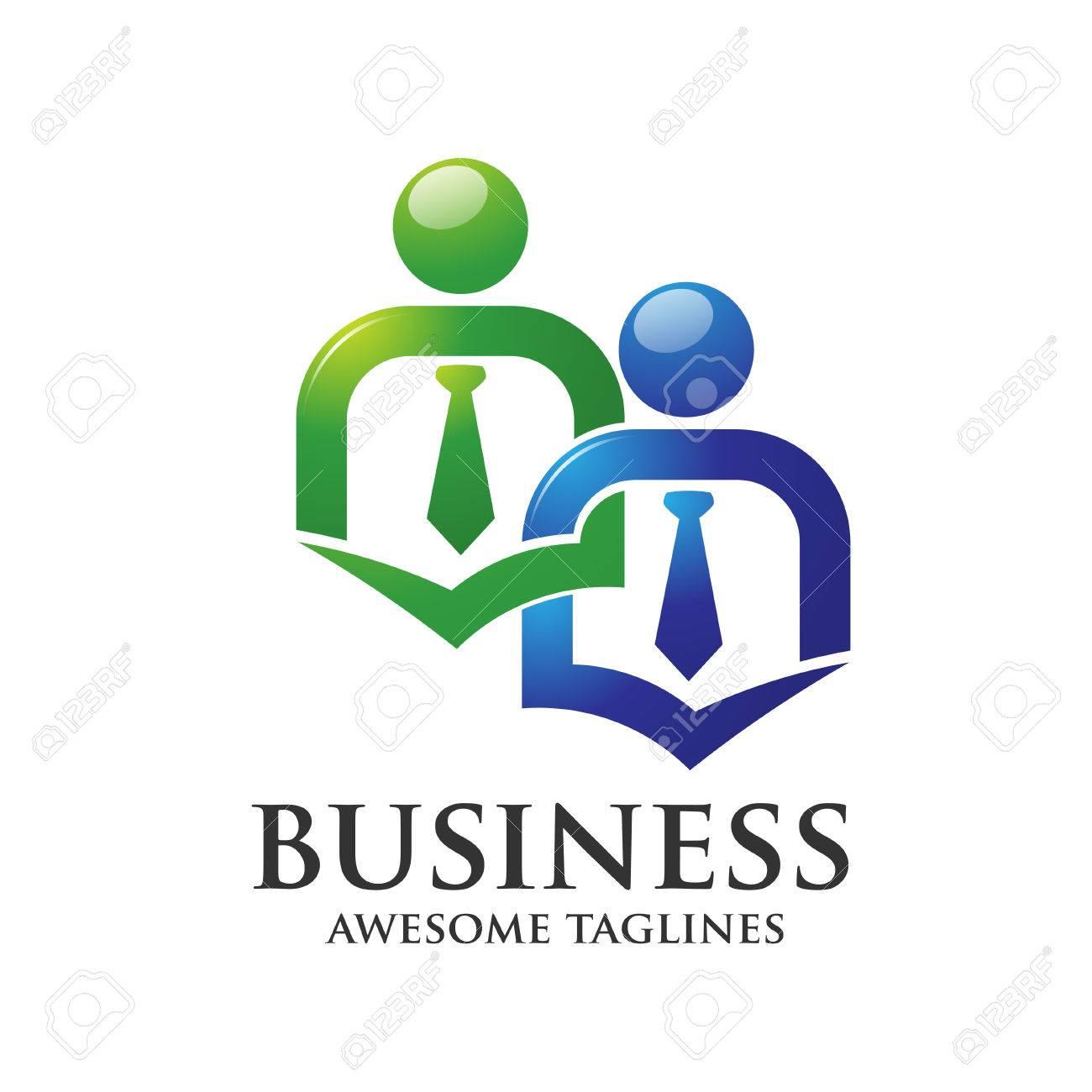 Verbinden Gemeinschaftsarbeit Buro Logo Konzept Lizenzfrei Nutzbare