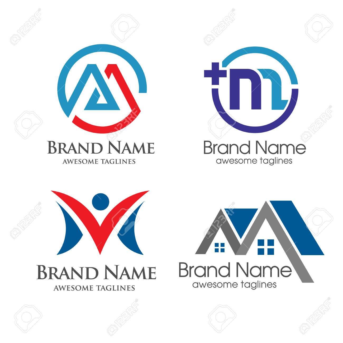 Elegant Letter M Logo Stock Vector