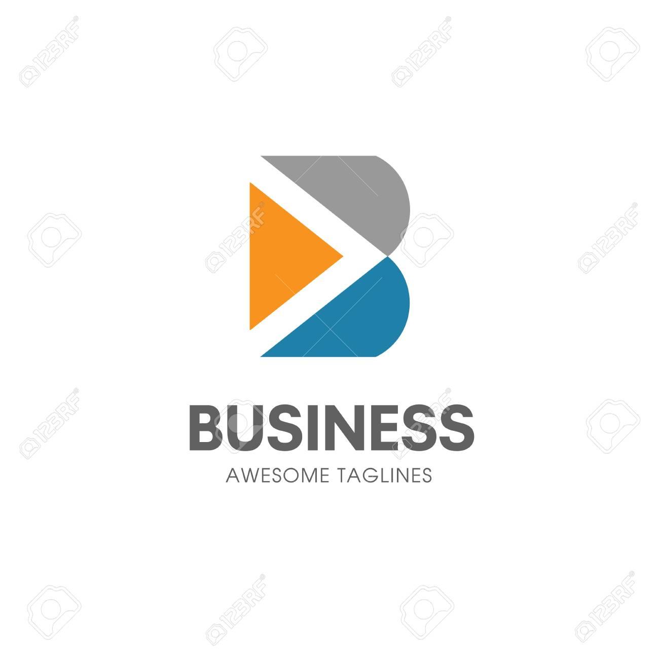 Kreatives B Brief Konzept Vektor Logo Vorlage Abstrakter
