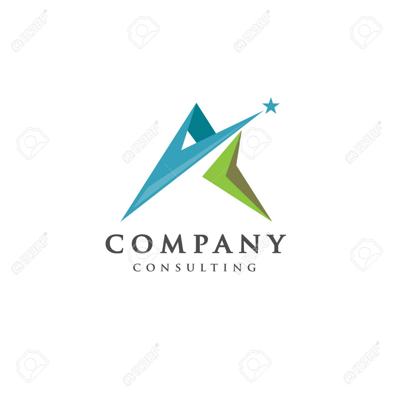 best letter a logo with star concept letter a strong and creative