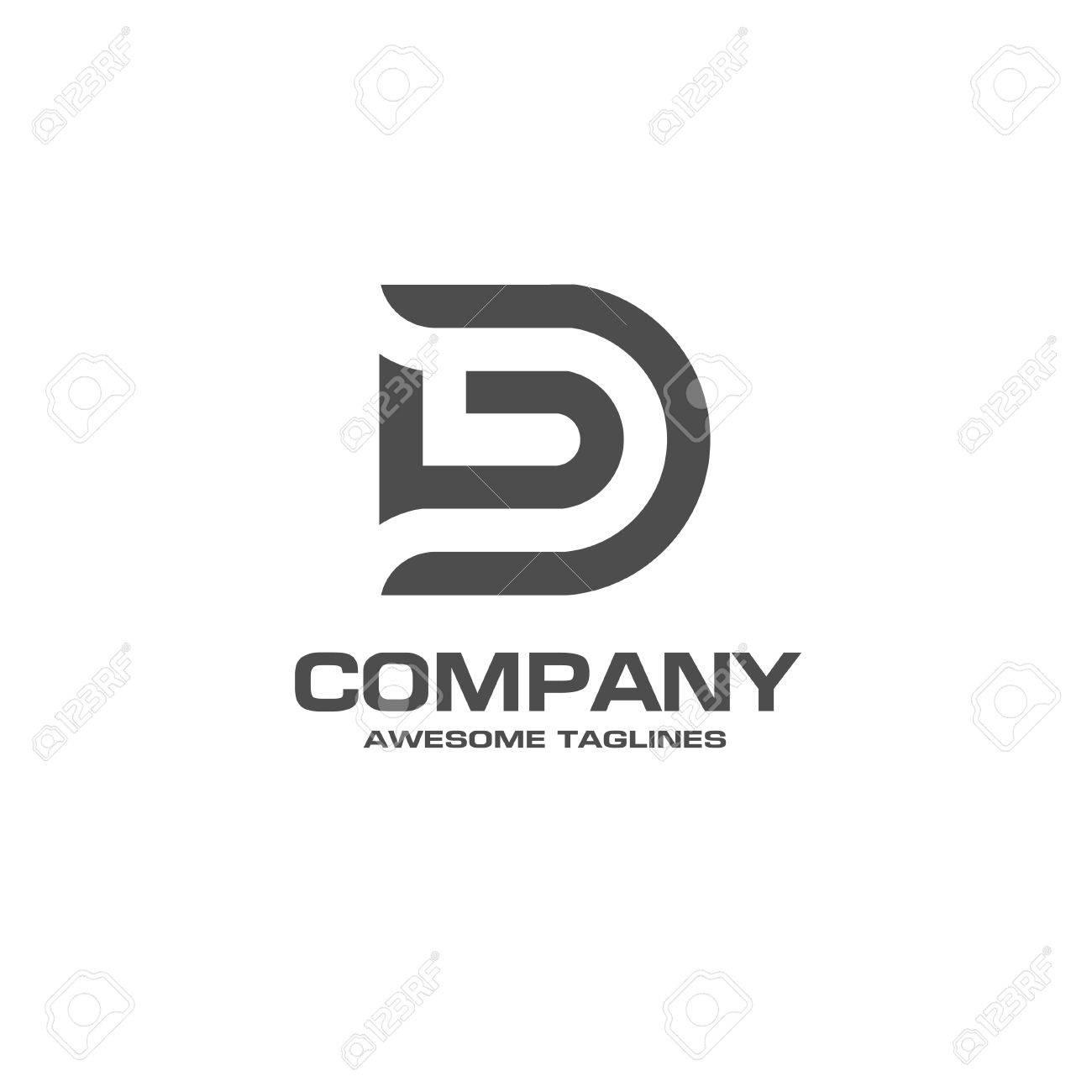 13439176527b Creativa letra D logotipo. Plantilla de diseño de logotipo de la empresa  abstracta. plantilla