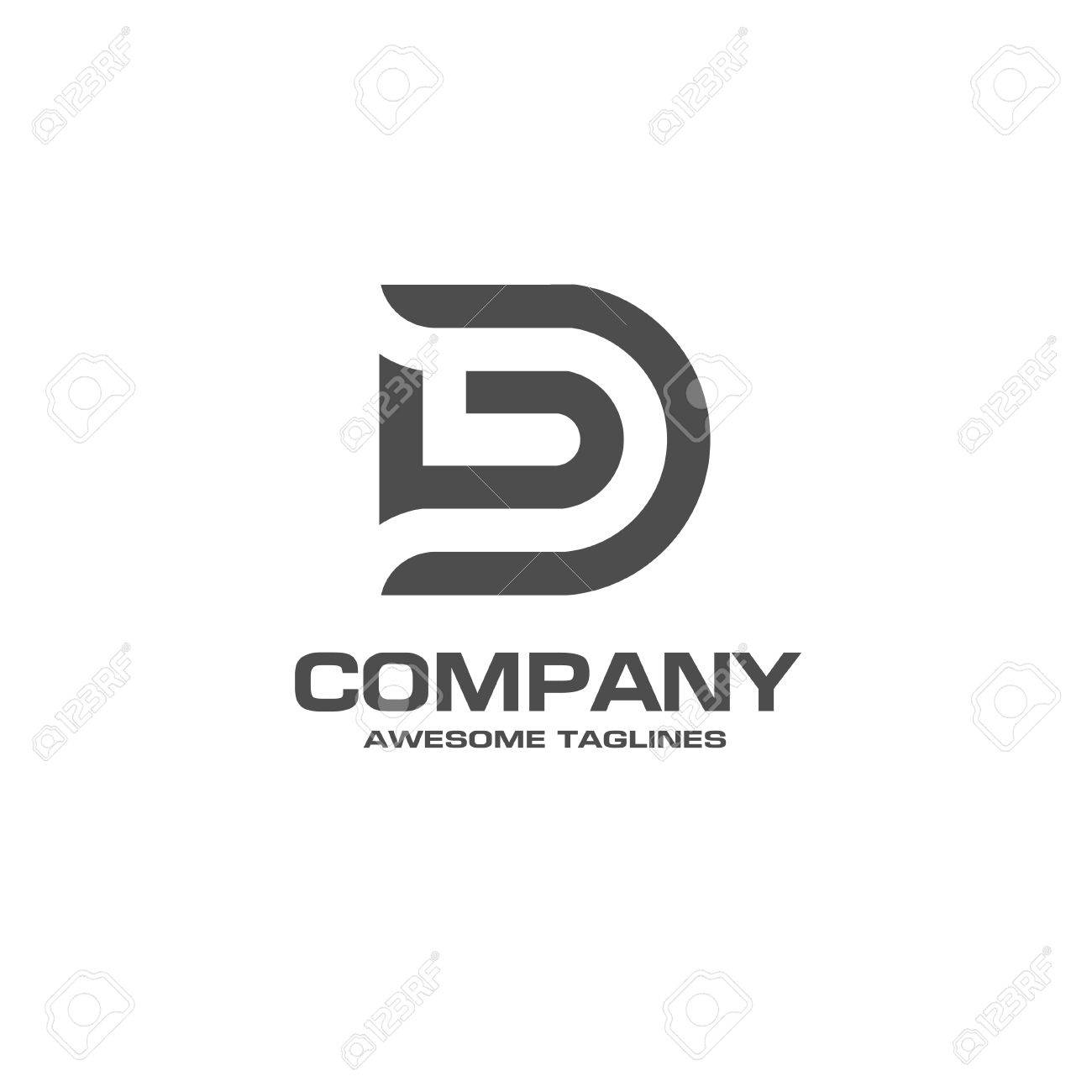 Creative Letter D Logo Abstract Business Logo Design Template