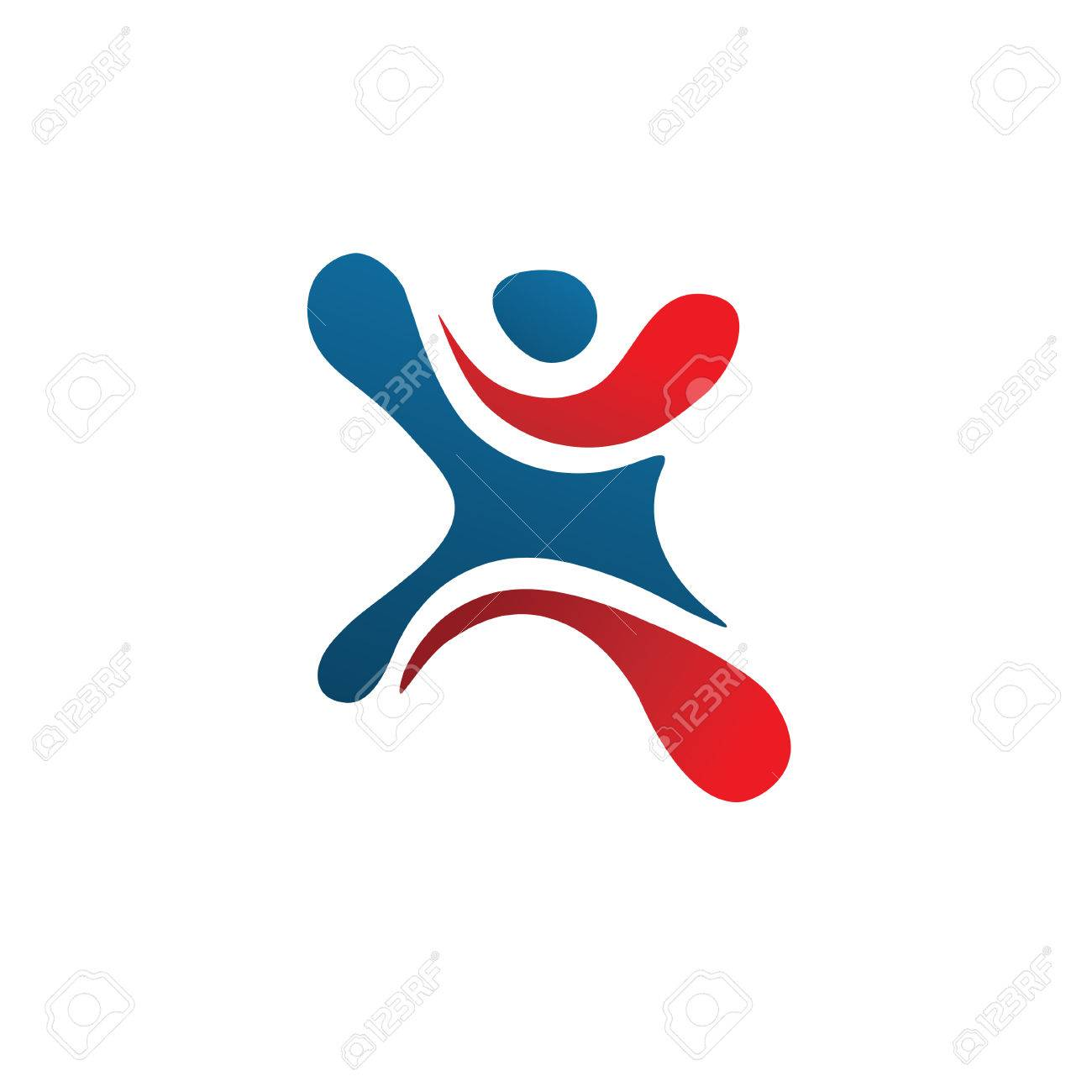 Active Figure Logo Sport Creative Letter X Logo Abstract Business