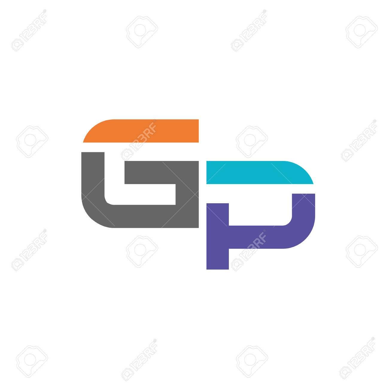 gp letter logo design vector illustration template g letter