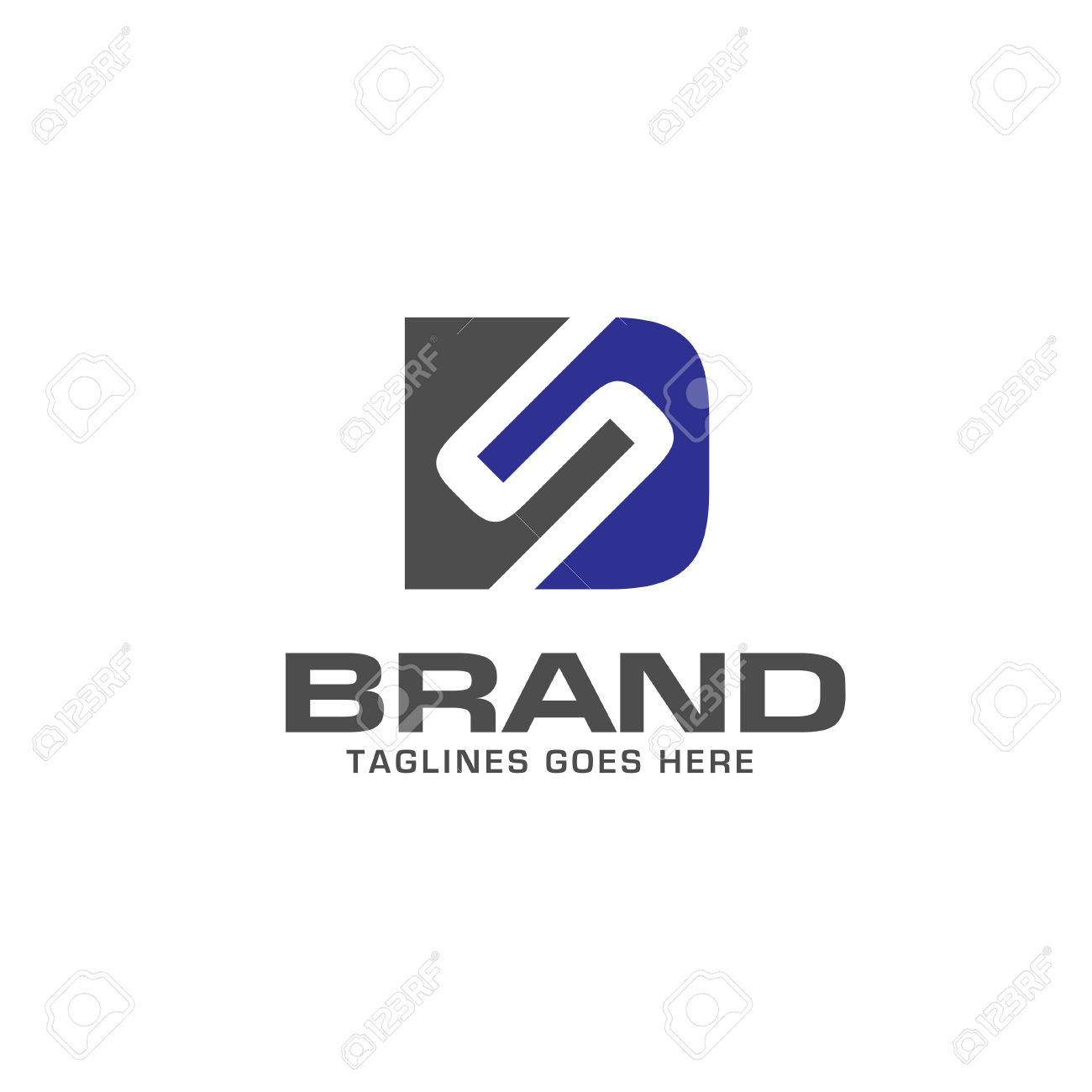 ds letter logo design vector illustration template d letter